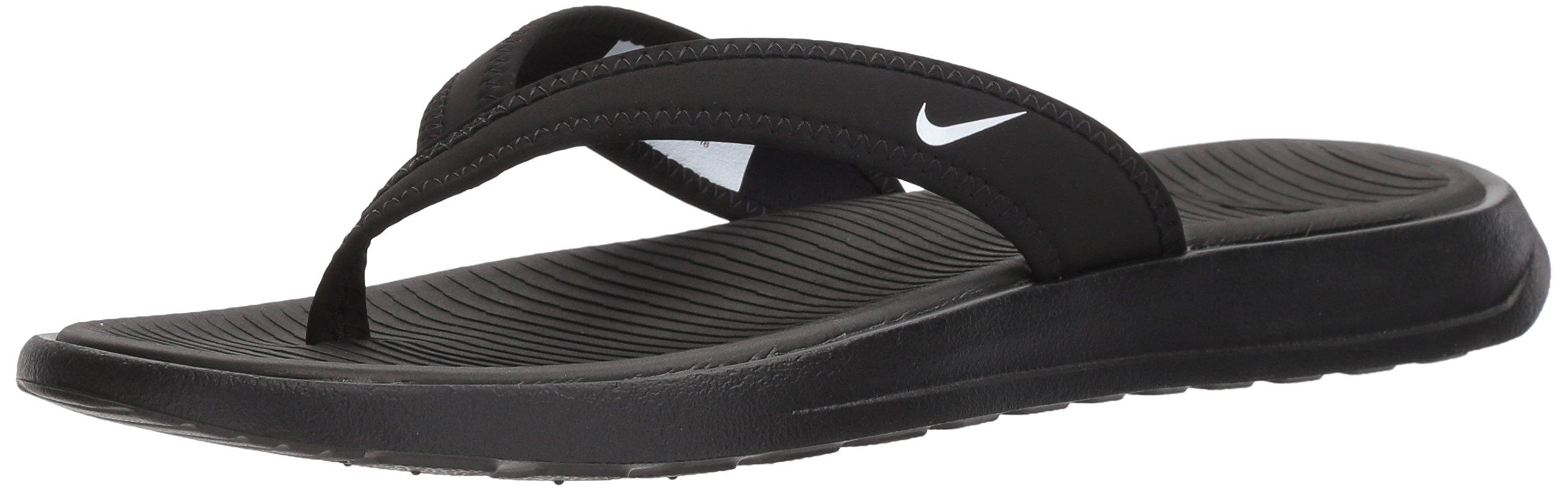 NIKE Women's Ultra Celso Thong Flip-Flop, Black/White, 10.0 Regular US