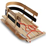 Flexible Flyer BCL-40 Premium Baby Sleigh. Toddler Boggan. Wooden Pull Sled for Kids, 29 x 14 x 11.5 inches