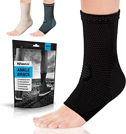 Women Men Sports Ankle Compression Sleeve Ankle Support Brace for Running Hiking