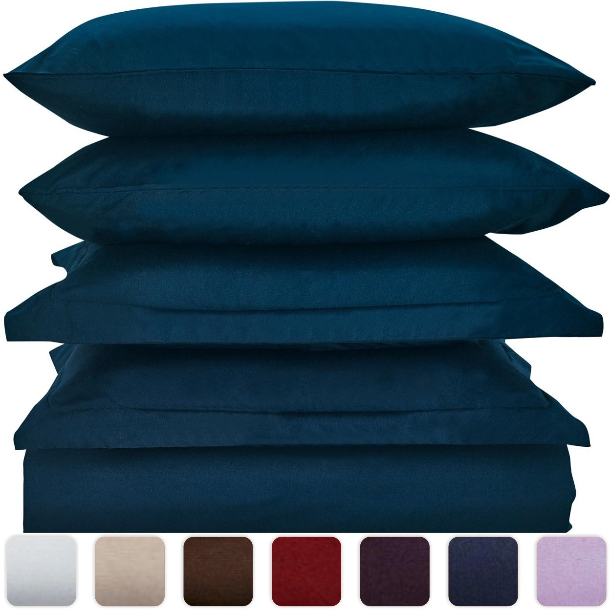 Mellanni Duvet Cover Set Royal-Blue - Double Brushed Microfiber 1800 Bedding Collection with Extra Pillowcase - Wrinkle, Fade, Stain Resistant - Hypoallergenic - 3 Piece (Twin/Twin XL, Royal Blue)