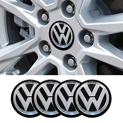 4 x 56.5mm Car Lettering BBS Wheel Center Cap Sticker Wheel Emblem Badge Logo Stickers fit Volkswagen accessory: Automotive