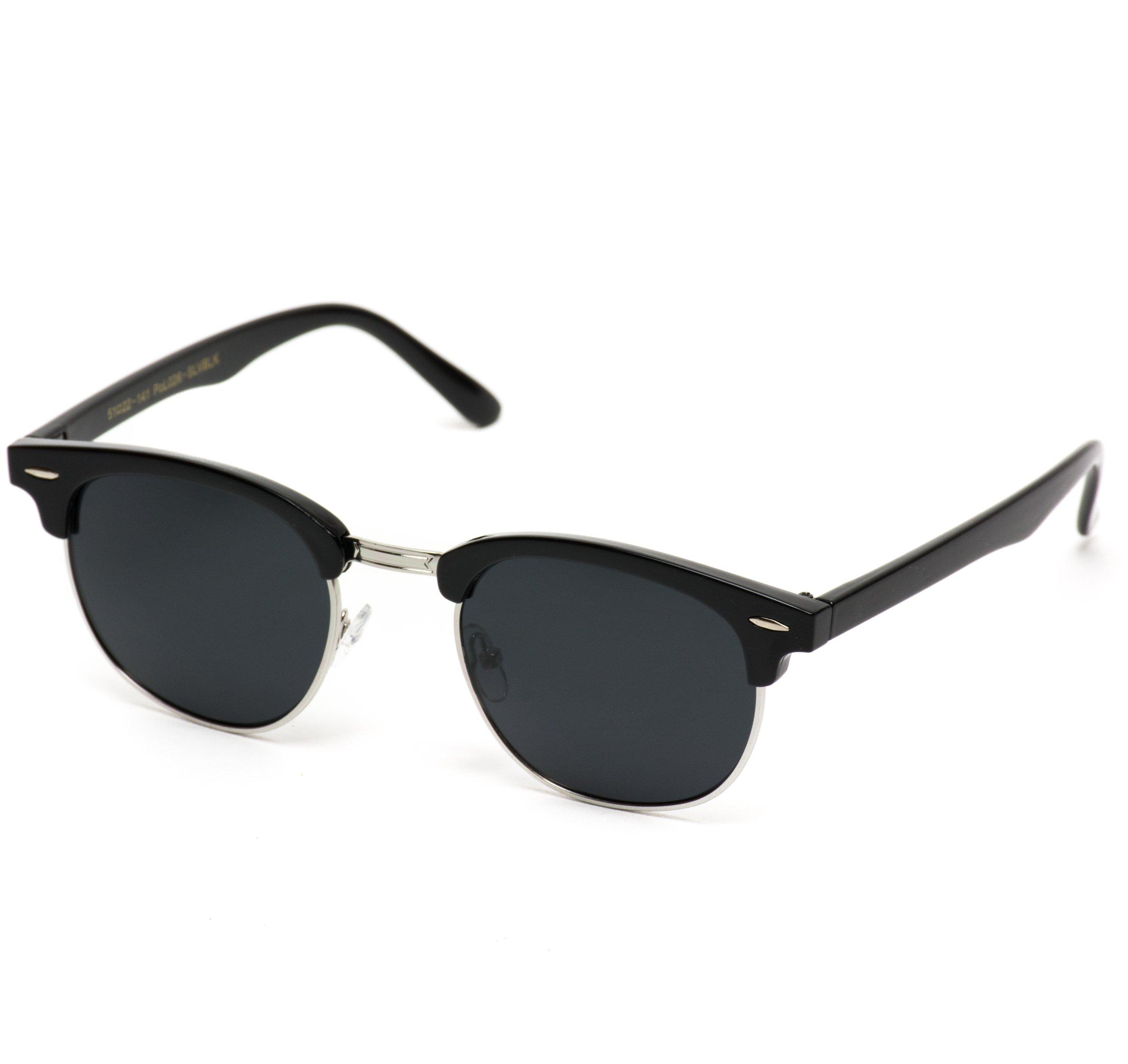 b43fcff2c8 WearMe Pro - Classic Half Frame Polarized Semi-Rimless Rimmed Sunglasses    Departments   Clothing