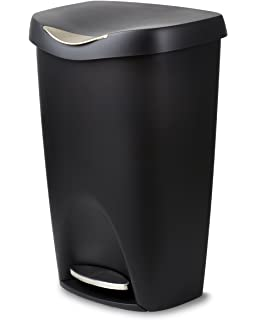 Umbra Brim Large Kitchen Trash Can With Stainless Steel Foot Pedal U2013  Stylish And Durable 13