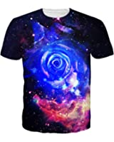 Uideazone Mens 3d Printed Pattern Short T Sleeve Shirt Cool Graphics Tees