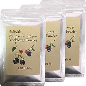国産100% 青森県産 無農薬 無添加 ブラックベリー粉末 40g×3袋セット