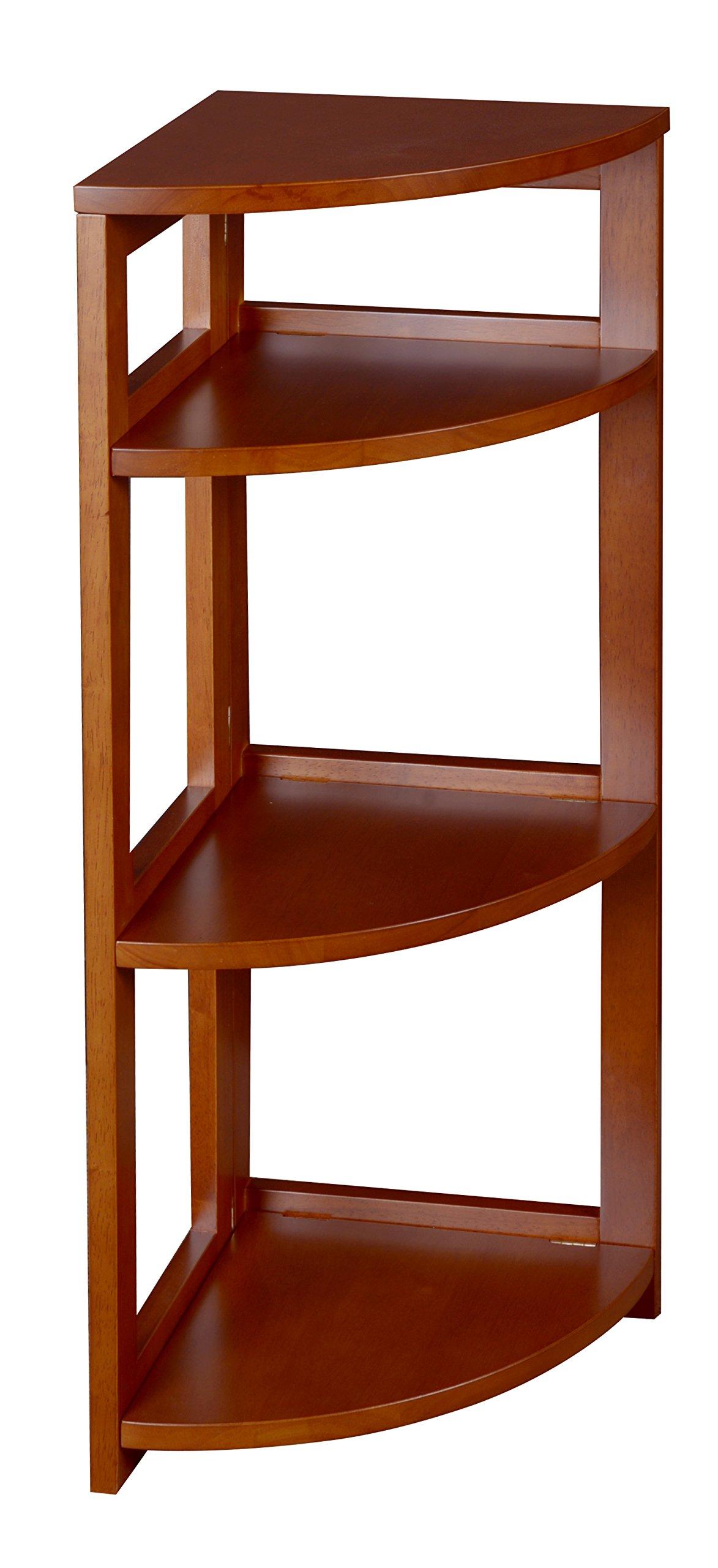 Regency Flip Flop 34-inch High Corner Folding Bookcase- Cherry