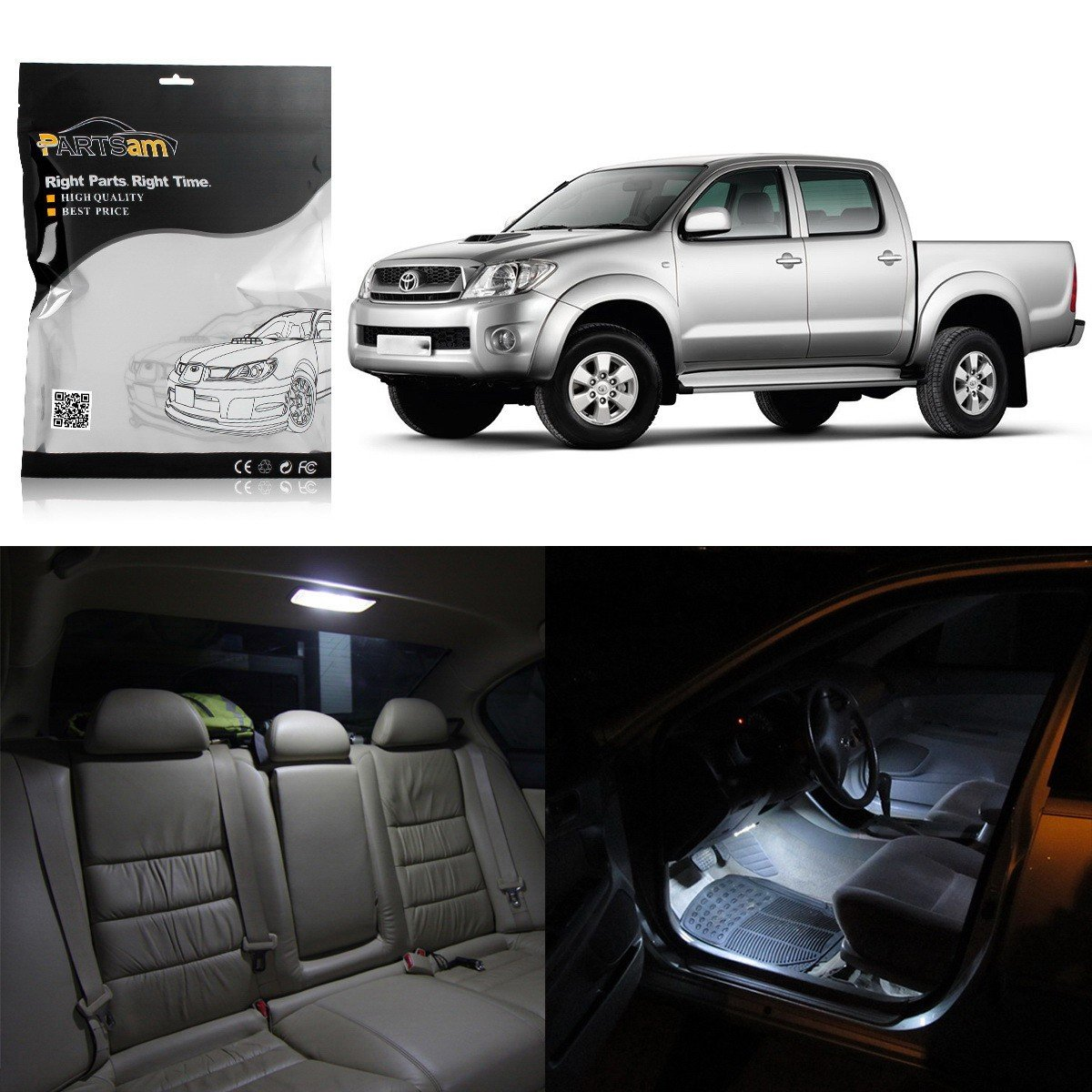 Partsam Toyota Hilux 2010 2011 2012 2013 2014 White Used Cars For Sale With Prices Interior Led Package Kit 5 Pieces Automotive