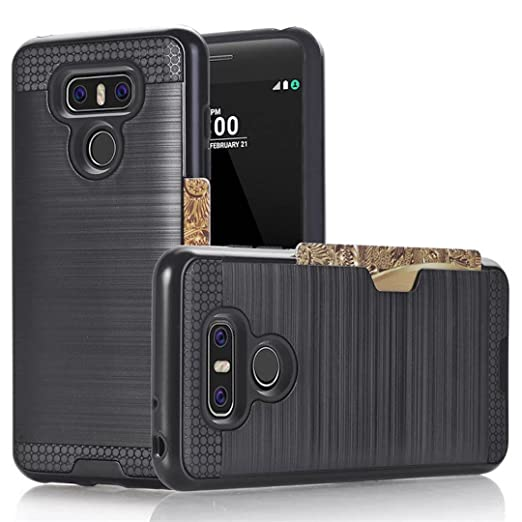 2 opinioni per Cover LG G6 Custodia Nera LONVIPI® Protettiva Porta Carta di Credito Portafoglio