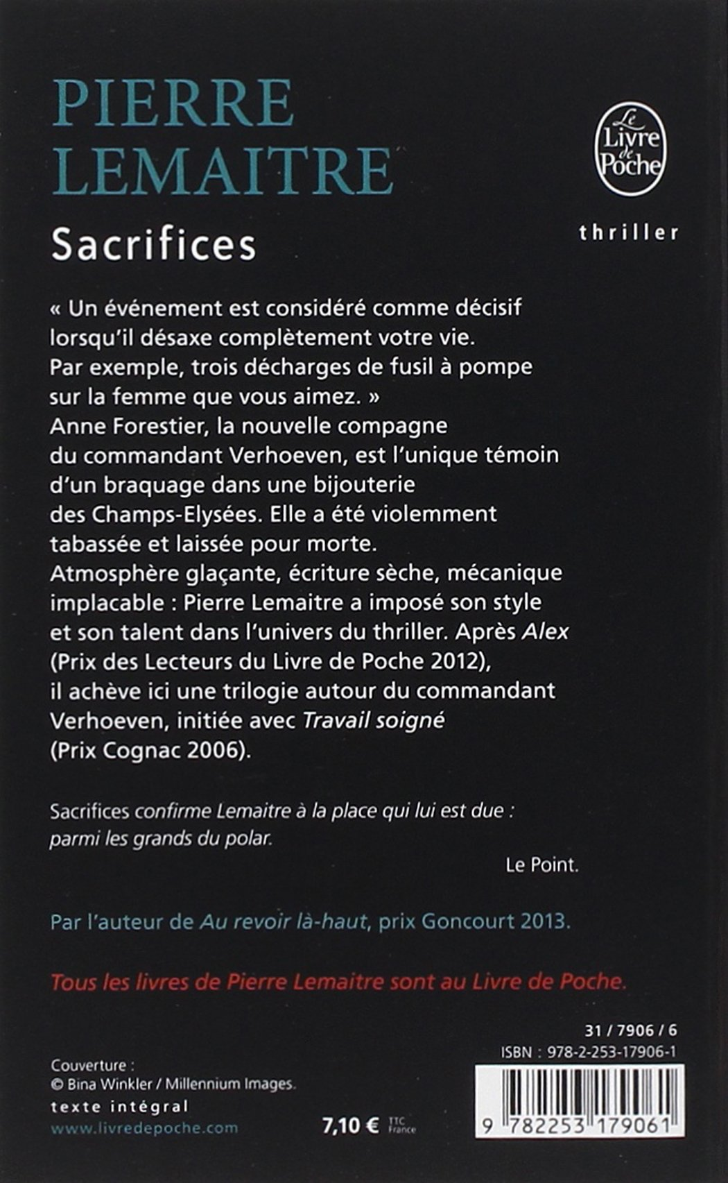 sacrifices pierre lemaitre