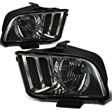 Ford Mustang OE Replacement Headlight Lamps Kit (Smoke Lens) - Pony 5th Gen