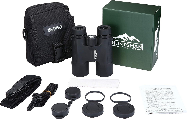Huntsman Outdoors 10x42 Binoculars - HD Waterproof Roof Prism Binocular for Bird Watching, Sporting Events, Hunting and Shooting Optics : Camera & Photo