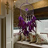 ESHOO Large Purple Dream Catcher Traditional Style Dreamcatcher