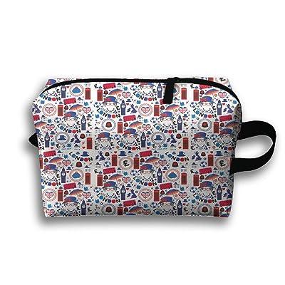 Too Suffering London Symbols Queen Elizabeth Travel Bag Multifunction Portable Toiletry Bag Organizer Storage