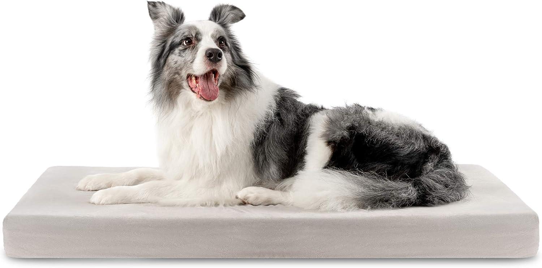 ZENAPOKI Cama para Perros Ortopédica L - Cojines para Perros Espuma con Memoria - Cesta Perro Gel Regulador de Temperatura - Manta Removible Resistente al Agua Lavable en Lavadora