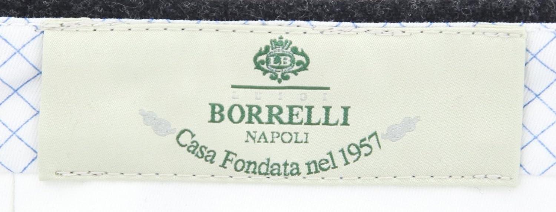 Slim Luigi Borrelli Charcoal Gray Solid Pants
