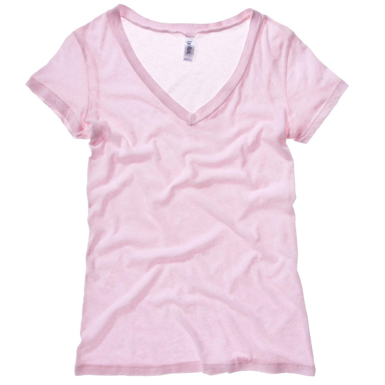 Bella Canvas Womens/Ladies Tissue Jersey Deep V-Neck T-Shirt Bella + Canvas