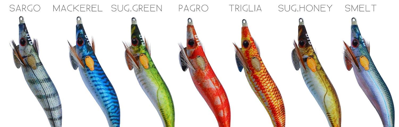 mullet totani e calamari Totanata DTD wounded fisk bukva 2.5 esca ertificiale per seppie