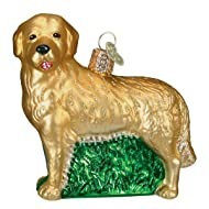 Old World Christmas Ornaments: Dog Collection Glass Blown Ornaments for Christmas Tree, Golden Retriever