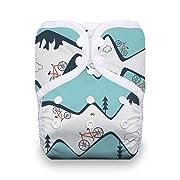 Thirsties Reusable Cloth Diaper, One Size Pocket Diaper, Snap Closure, Mountain Bike