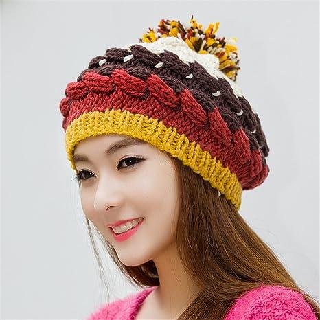 MAOZIMAOZI Novia Novio Regalos de vacacionesNovia Novio Sombrero de Mujer  Dama Encantadora Tejer Sombrero en Invierno 9e7a5cd3d95