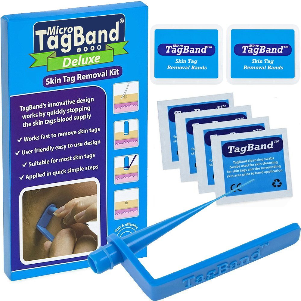 Deluxe Micro TagBand Skin Tag Remover Kit with Extra Bands and Free Retainer Box by TagBand