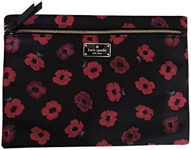 competitive price 963a4 2242a Amazon.com: Kate Spade Large Drewe Wilson Road Poppy Floral Cosmetic ...