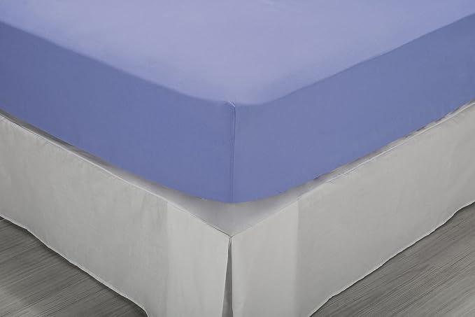 Letto da  100 cm 105 x 190//200 cm Pikolin Home 100/% cotone Tutte le misure Lenzuolo di sotto con angoli azzurro