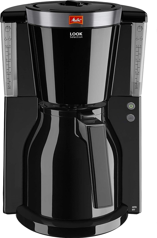Melitta Look IV Therm Selection 1011-11/-12 Cafetera de Filtro, 1000 W, 1 Liter, Negro/Acero Inoxidable: Amazon.es: Hogar