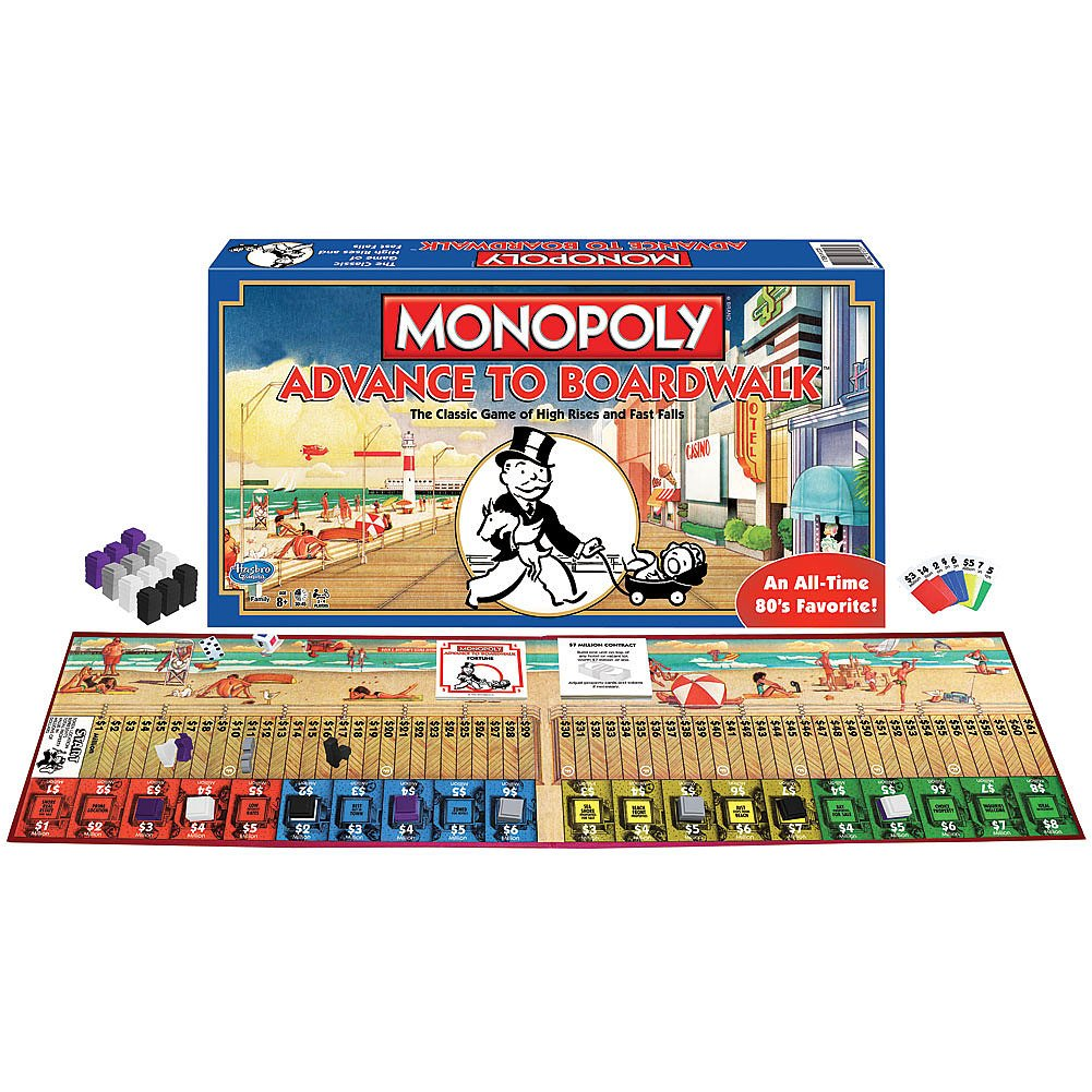 2-4 Player Johnson Smith Co. Winning Moves Games Monopoly Advance to Boardwalk Hotel Game an All Time Favorite