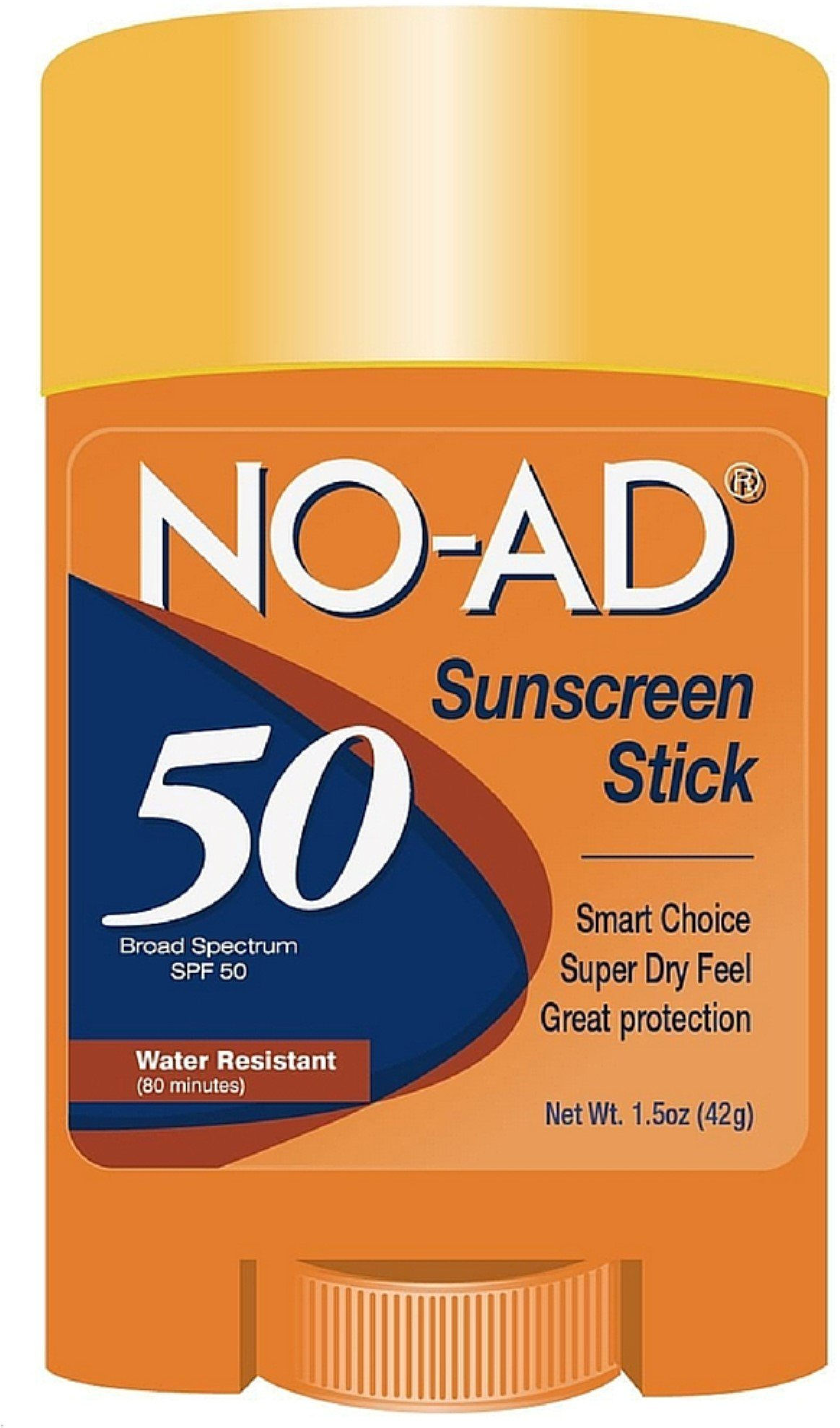 NO-AD Water Resistant Sunscreen Stick SPF 50 1.50 oz (Pack of 8)