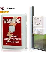 Alarma para ventana Defender con pegativa para disuadir robos, tecnología de sensor de choque 110dbs para detectar entrada forzada y roturas de cristal