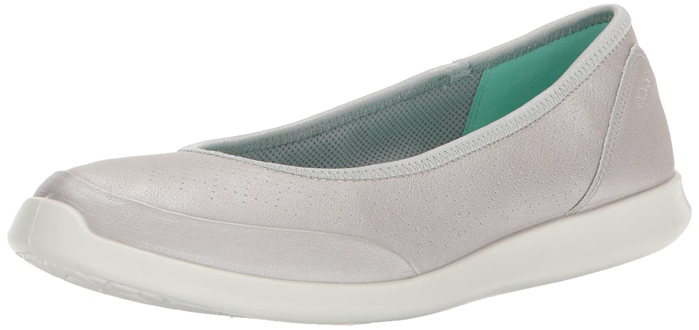 ECCO Womens Sense Closed Toe Slide Flats B072L1WG5W 38 EU/7-7.5 M US|Alusilver