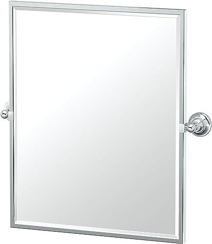 Gatco 4329FSM Tiara Chrome Framed Small Rectangle Mirror, 25 H