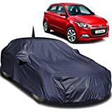Autofact Car Body Cover Compatible for Hyundai Elite I20 with Mirror and Antenna Pockets (Navy Blue)