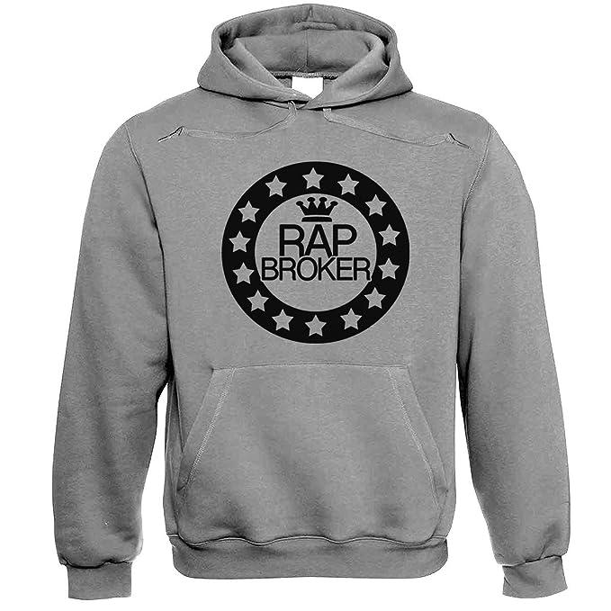 Rap Broker King Grey Sudadera con Capucha XXL: Amazon.es: Ropa y accesorios