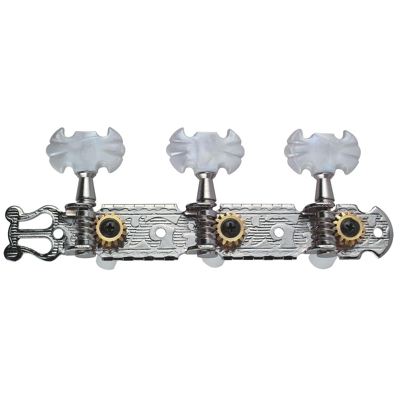 6Pcs Closed Machine Heads Zinc Alloy String Tuning Key Pegs for Folk//Electric Guitar