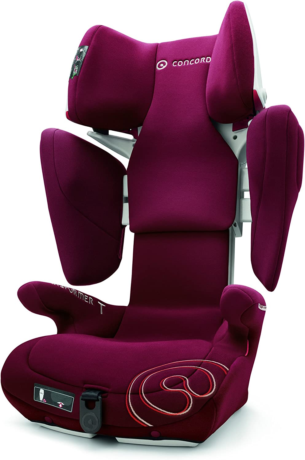 Concord Transformer T Silla de Coche Grupo 2 3, de 15 a 36 kg, Isofix, Color Bordeaux Red