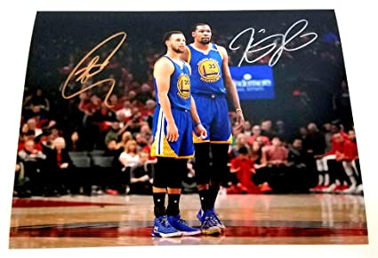 outlet store 9e5bc b1157 Stephen Curry & Kevin Durant Autographed 8x10 Photo at ...