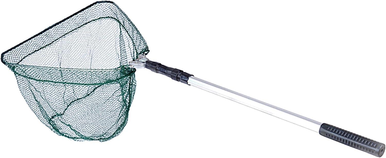 Folding Handle Fishing Landing Net 3 Section Extending Pole Aluminum Handle
