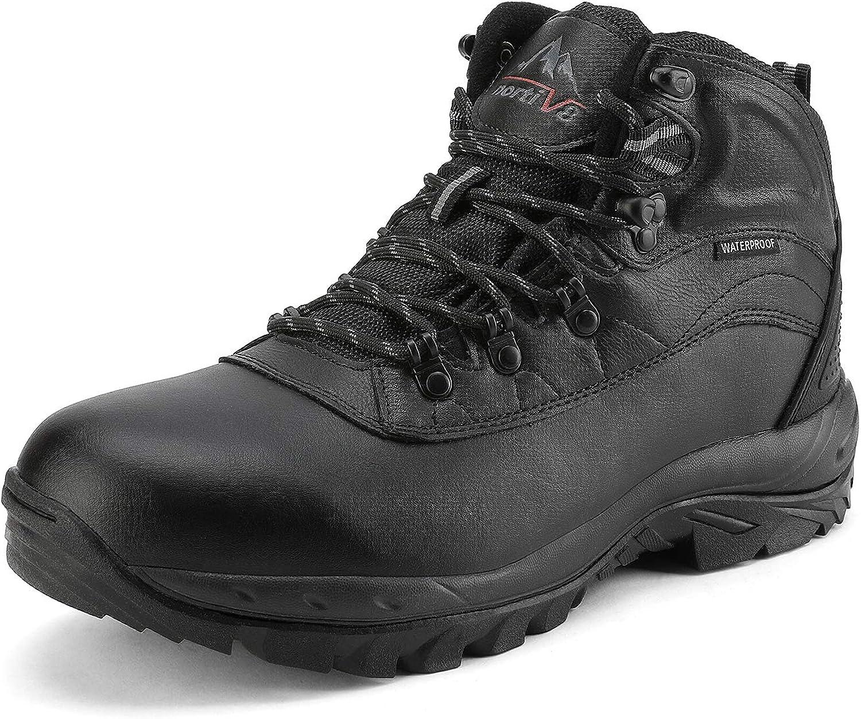 NORTIV 8 Men s Waterproof Hiking Boots Mid Outdoor Backpacking Trekking Trails Lightweight Shoes