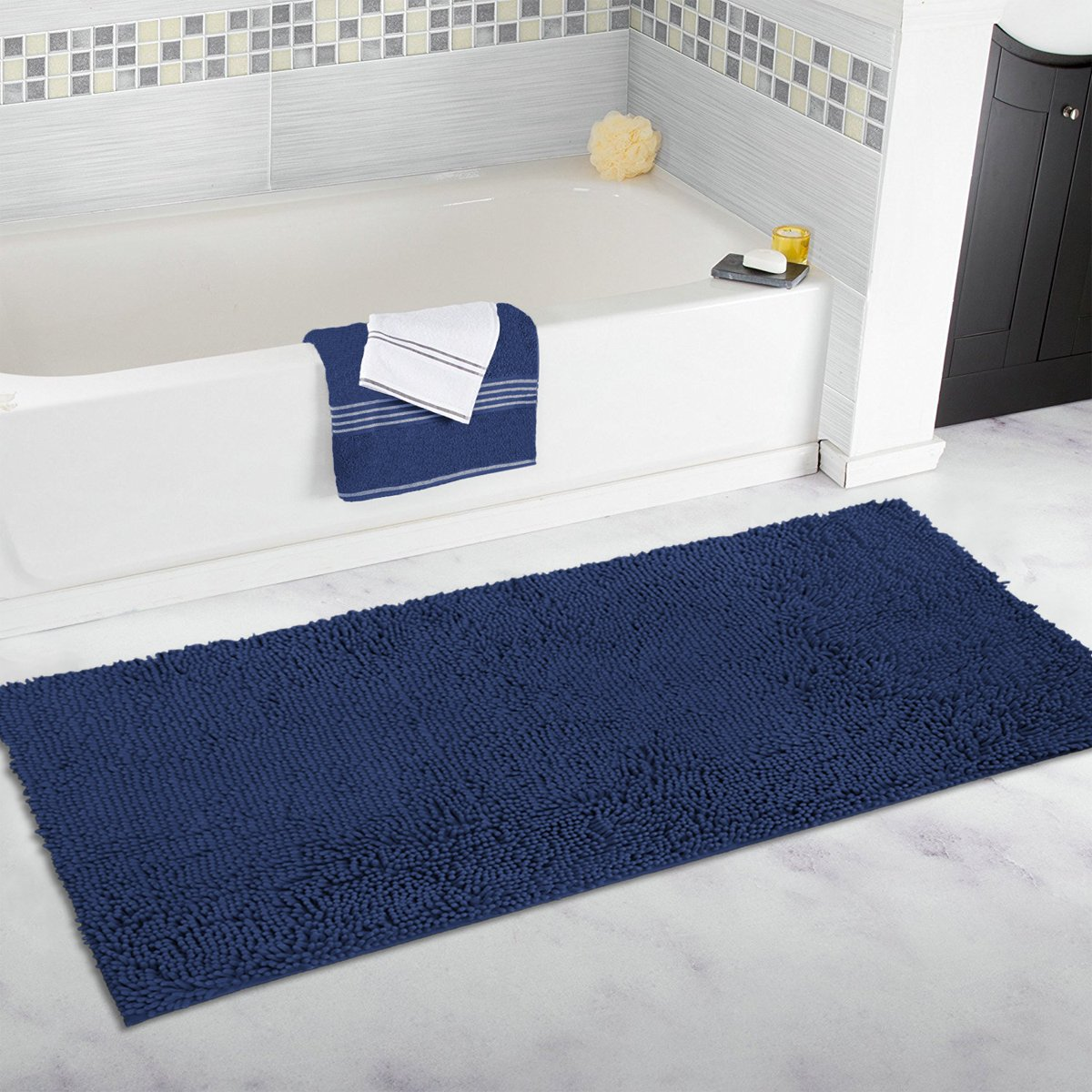 Mayshine Memory Foam Bath Mat Runner Non-Slip Water Absorbent Luxury Soft Bathro