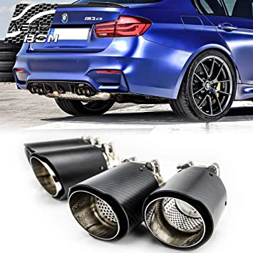 Real Carbon Fiber M Performance Exhaust Tips Muffler Pipe For F80 M3