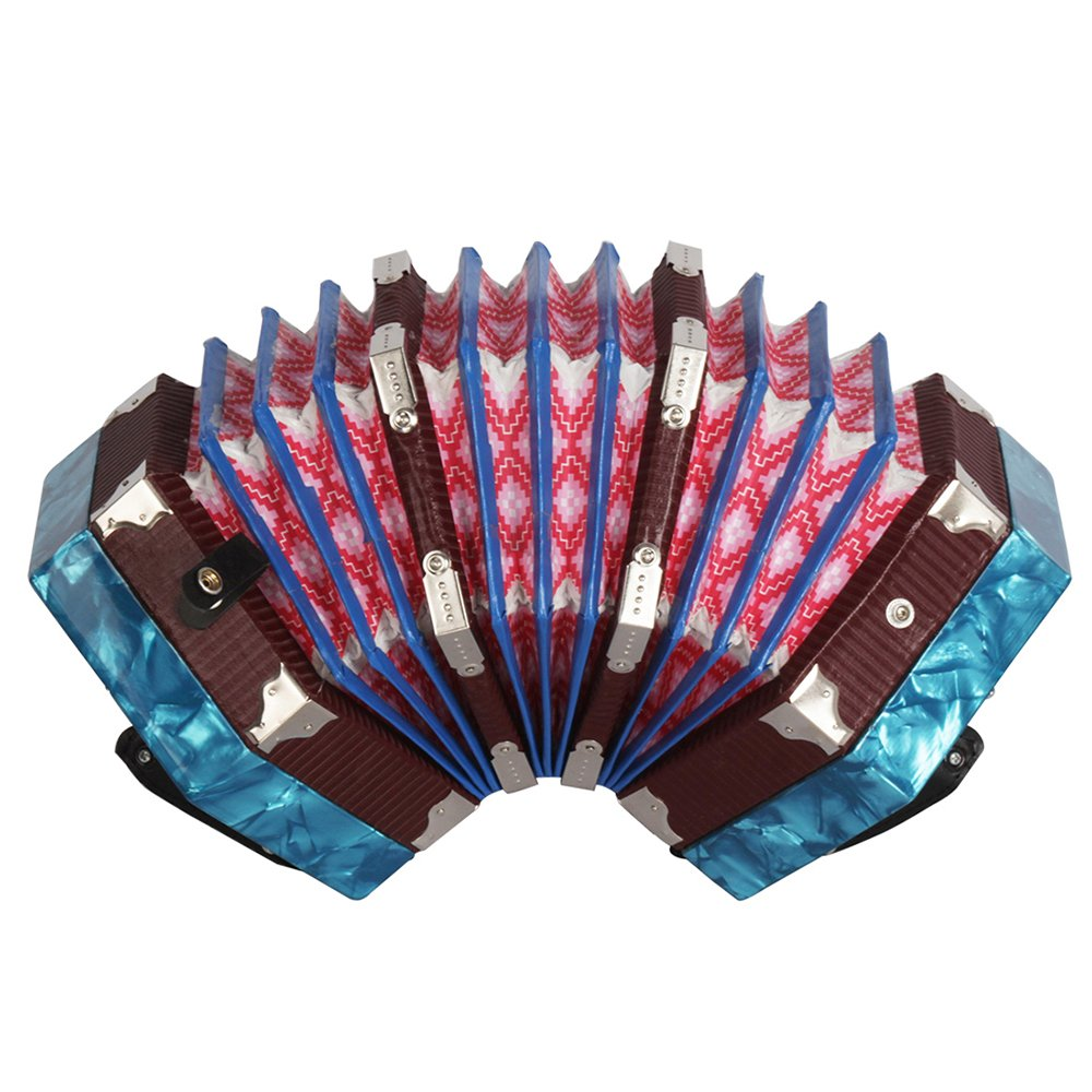 ammoon Concertina Accordion 20-Button 40-Reed Anglo Style with Carrying Bag by ammoon