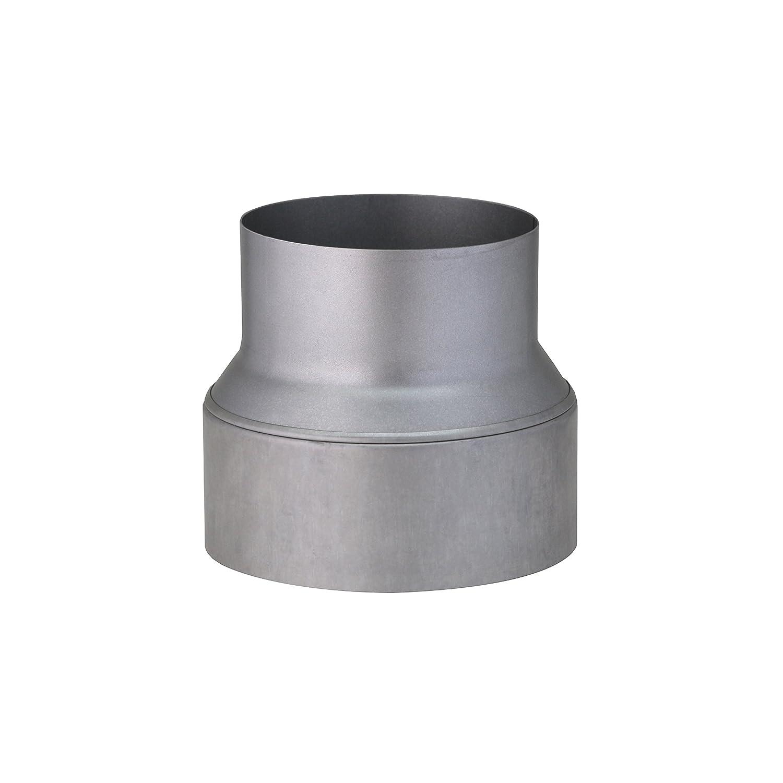 Kamino-Flam Tubo Riduttore per tubo della stufa, tubo riduzione stufa da 150 mm su 120 mm in acciaio, testato secondo la norma EN 1856-2, argento Kamino - Flam 331606