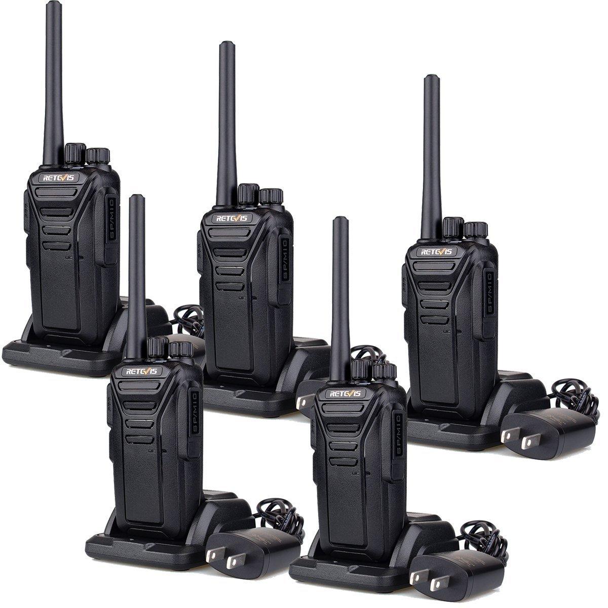 Retevis RT27 Walkie Talkies FRS Radio 22CH Scrambler VOX FCC Certification License-free 2 Way Radio (Black,5 pack)
