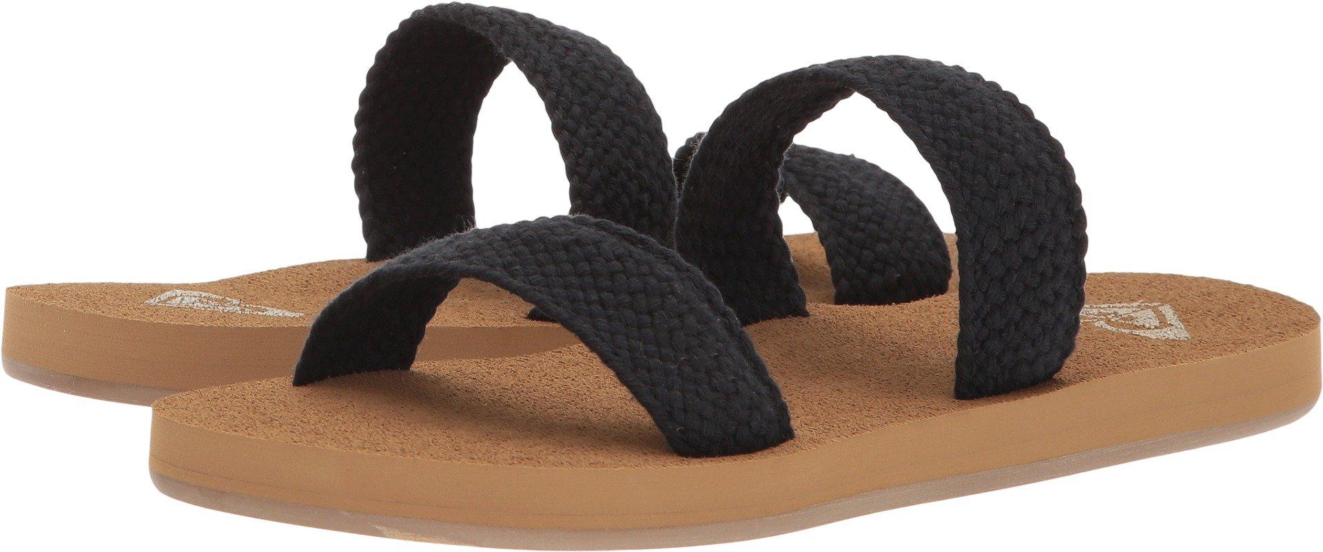 Roxy Women's Sanibel Slide Sandal, Black, 9 M US