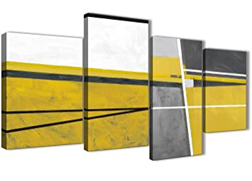 Wallfillers Große Senf Gelb Grau Gemälde Abstrakt Wohnzimmer Leinwandbild  Wall Art Decor U2013 4388u2013130