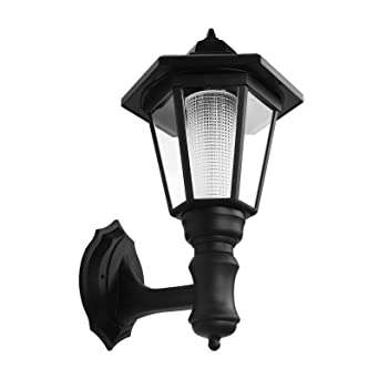 solar wall light ourleeme porch light lighting intelligently no rh amazon com Wiring of the Wall Out wall lights no wiring required