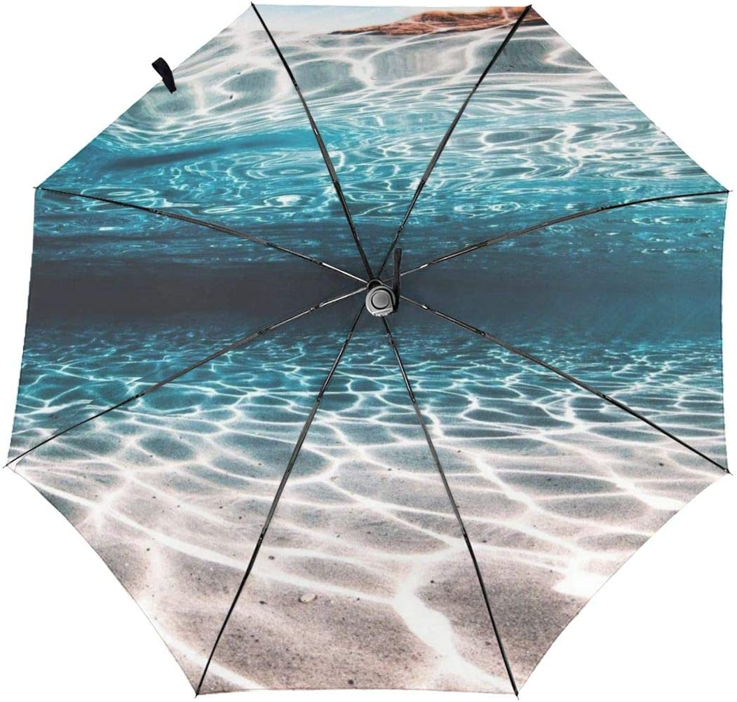 WUHAN1 Floral Seamless Pattern Automatic Tri-fold Umbrella Inside Print One Size