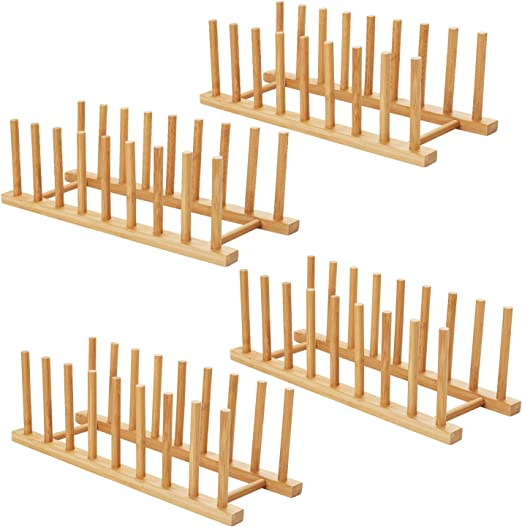 Dish Dry Rack Holder Organizers Kitchen Storage Counter Washing Drainer Bamboo